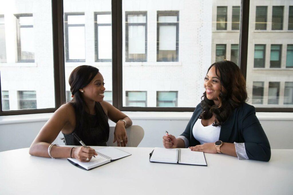 black women talk at work