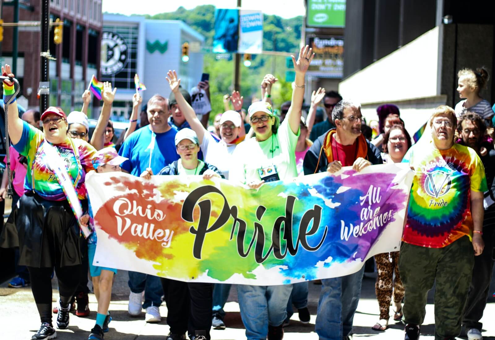 people march for ohio valley lgbtq pride month